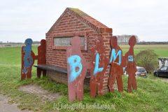 Opnieuw vernielingen/graffiti in de Ooijpolder