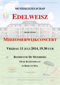 Affiche Midzomerwijkconcert 2014 (Large)