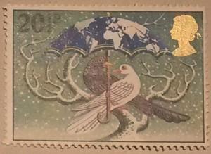 Internationaal kerstpostzegel Vredesduif 2015