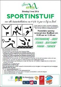 Poster sportinstuif 3 mei 2016