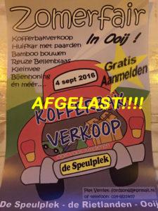 Speulplek AFGELAST